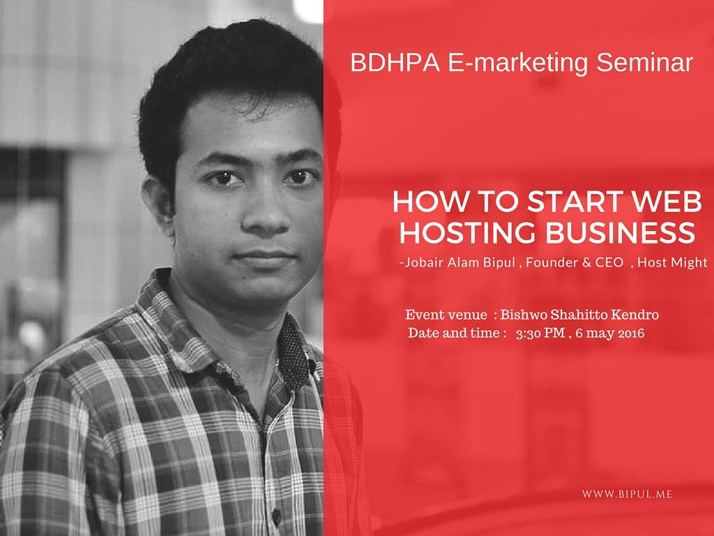 Web Hosting Business for beginners will be conducted by our CEO & Founder Jobair Alam Bipul