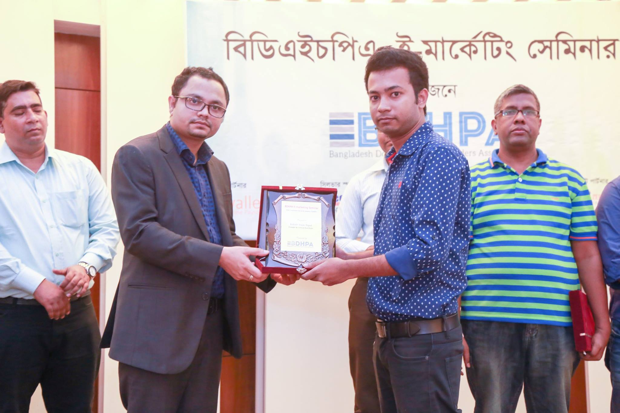 Jobair Alam Bipul , Founder & CEO of HostMight is receiving honorary crest