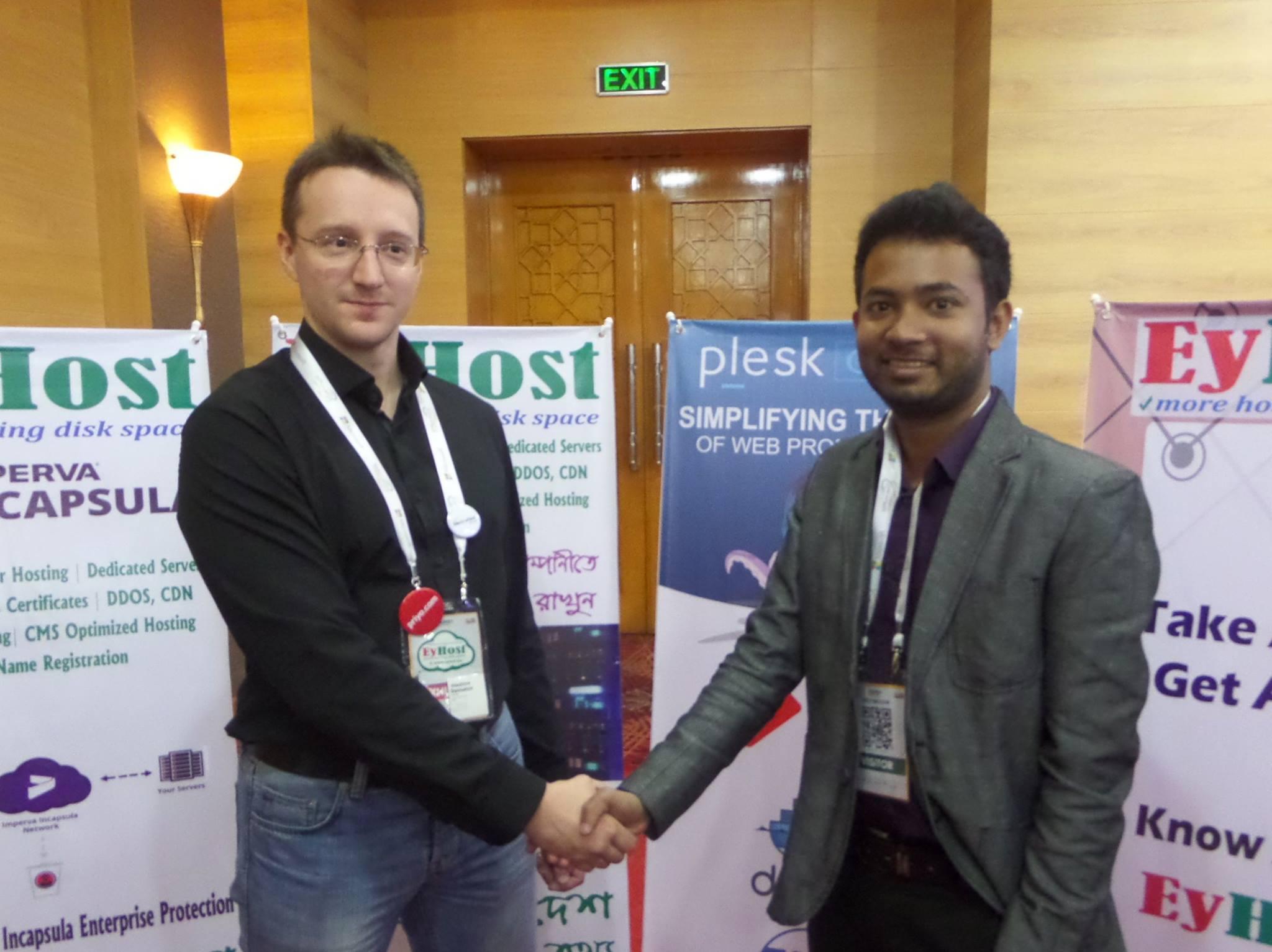 Host Might 's CEO Jobair Alam Bipul Meet with Plesk Sales engineer