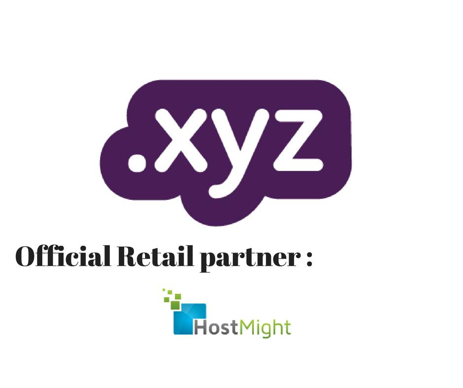 Host Might an official retail partner of .XYZ domains