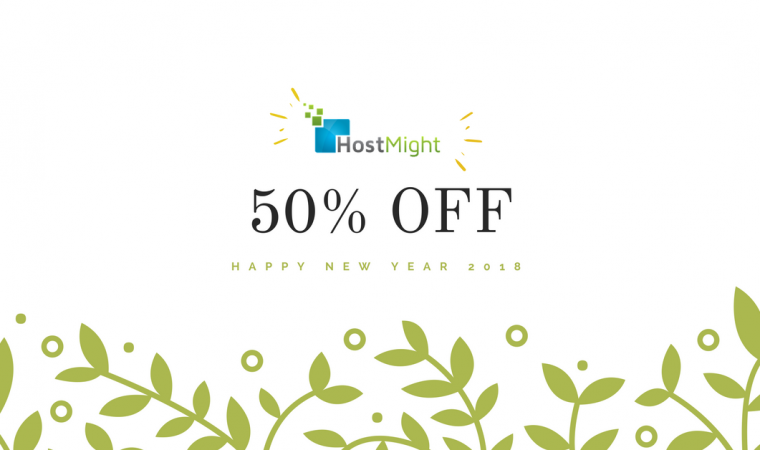 Get 50% OFF,  New Year Special 2018